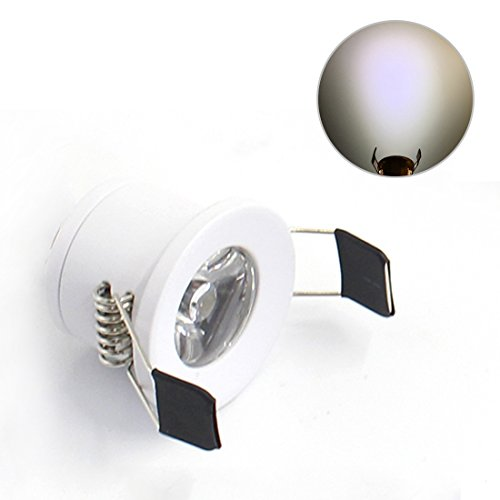 - LEDIARY Under Cabinet Mini LED Downlights Recessed Small Ceiling Downlight Wall Lighting White Color 6000K(Daylight White)1.5W