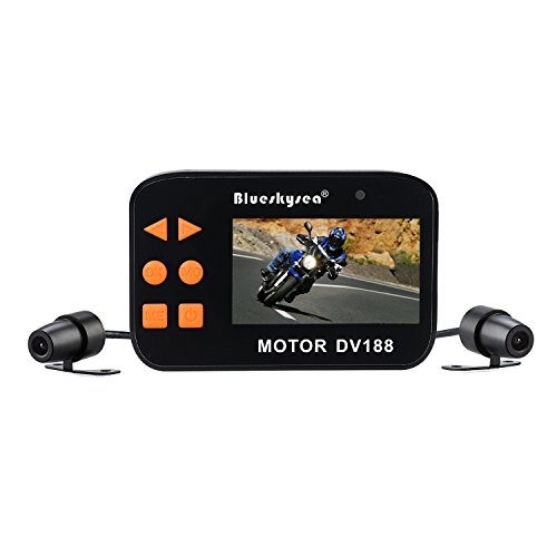 Motorcycle Dash cam 130°Motorcycle Car Vehicle Cam 1080P FHD Waterproof Dual Lens 2.7' Camcorder Night Version