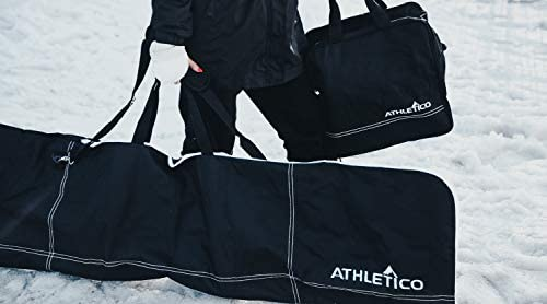 Athletico Two-Piece Snowboard and Boot Bag Combo   Store & Transport Snowboard Up to 165 cm and Boots Up to Size 13   Includes 1 Snowboard Bag & 1 Boot Bag (Black)