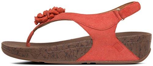 Red Sandalias para de vestir FitFlop mujer Sunset xAwYTUdq