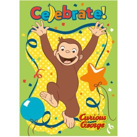 Curious George Invitations, 8 count Birthday Party -