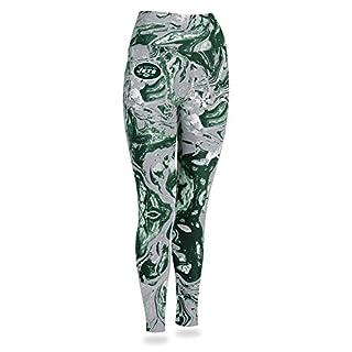 Zubaz NFL New York Jets Women's Swirl Leggings, Multicolor, X-Large