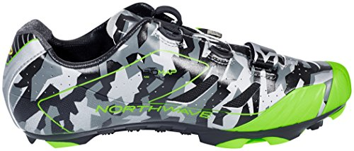 Northwave Extreme XCM - Zapatillas - gris/negro 2017 reflective camo/green fluo