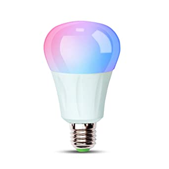 iHomma smart WiFi Bombilla LED E27,Regulable Luz Blanca fría+cálida+ multicolor RGB,