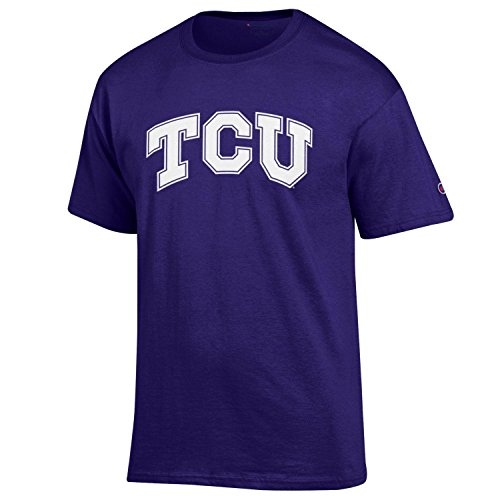 Champion NCAA Men's Shirt Short Sleeve Officially Licensed Team Color Tee, TCU Horned Frogs, Medium