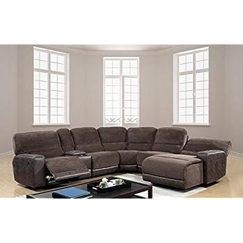 amazon com esofastore contemporary sectional sofa recliner chair rh amazon com And Sofas www Contmporarysectionals Modern Sectional Sofa with Recliners