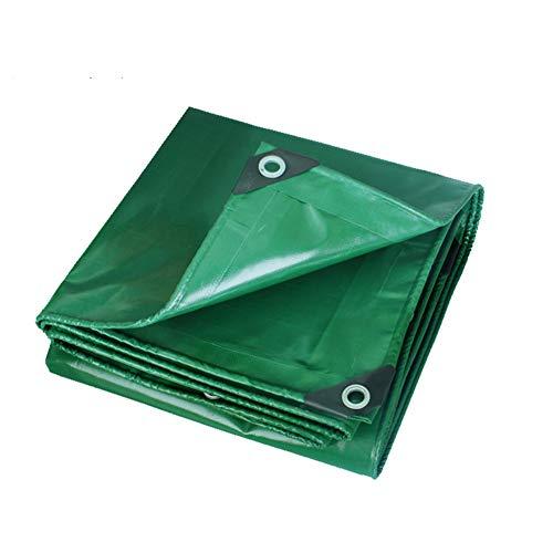 マイクロ社説底KKCF オーニング耐寒性防風耐寒性絶縁耐摩耗性屋外トラックポリ塩化ビニル 、450 / M2 、9サイズ (色 : Green, サイズ さいず : 3.8x5.8m)