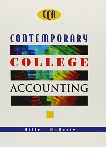 Contemporary College Accounting