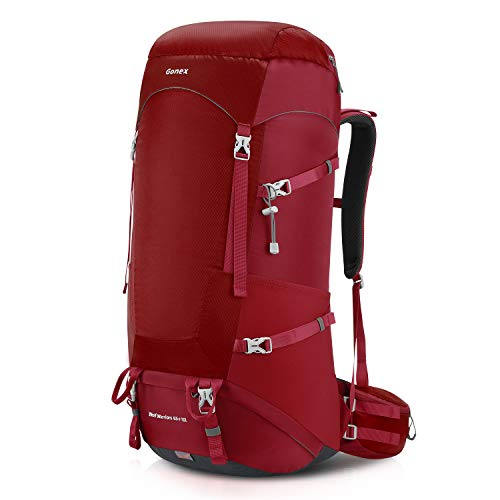 Hiking Backpack, Mountaineering & Traveling Daypack Red ()