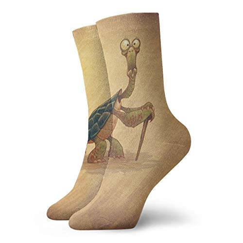 851443cc7955c7 Walking Sticks Old Turtle Novelty Crew Socks Athletic Casual Stockings For  Unisex 30CM