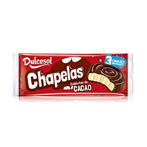 DULCESOL- Chapelas (Bizcocho cubierto de chocolate) - 3 unidades: Amazon.es: Alimentación y bebidas