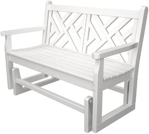 POLYWOOD CDG48WH Chippendale Glider, White