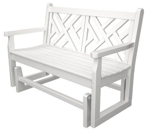 POLYWOOD CDG48WH Chippendale Glider, ()