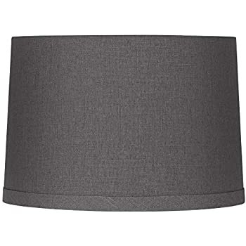 Gray Linen Drum Lamp Shade 15x16x11 Spider Springcrest