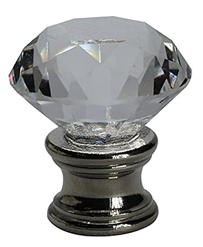 (Urbanest Crystal Duchess Lamp Finial, Brushed Steel)