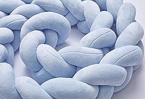 Blau,2m Bettumrandung 2m//3m,Baby Nestchen Kinderbett Sto/ßstange Weben Bettumrandung Kantenschutz Kopfschutz f/ür Babybett Bettausstattung
