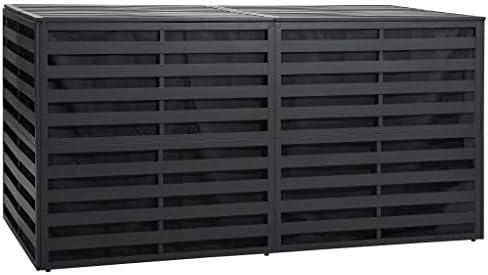 Tidyard Gartenbox Aluminium Aufbewahrungsbox Gartentruhe Garten Box 200x100x100 cm Anthrazit Mit Gasdruckfeder