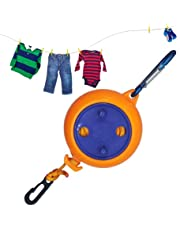 8 Meters Portable Travel Laundry Rope, Camping Retractable Clothes Line,Used in Indoor Outdoor