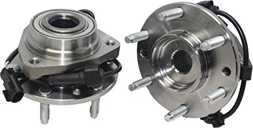 Detroit Axle - (Both) Front Wheel Bearing and Hub Assembly for Isuzu Ascender Oldsmobile Bravada GMC Envoy Buick Rainier Chevy Trailblazer W/ABS (Pair) 513188 x2 ()