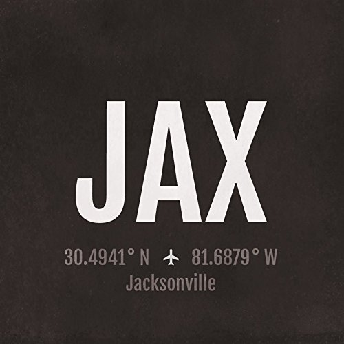 Jacksonville Airport Code Print - JAX Aviation Art - Florida Airplane Nursery Poster, Wall Art, Decor, Travel Gifts, Aviation -