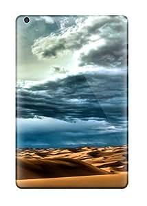 High Grade Mary David Proctor Flexible Tpu Case For Ipad Mini/mini 2 - Sand Dunes And Clouds