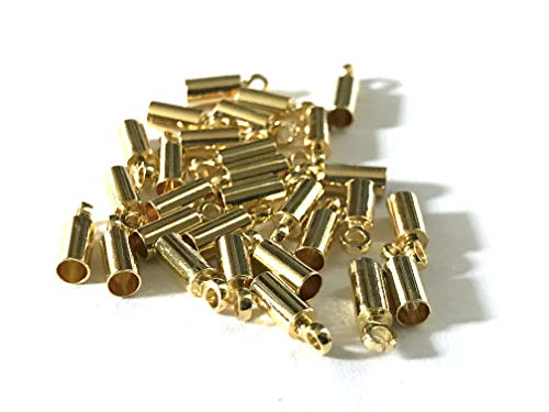 New 100 pcs Gold Plated End Bead Caps 9mm Leather Cords Necklace Chain Bracelet Jewelry Making Tools Clasp Jewelry Findings Bead Making 12E
