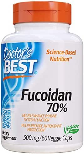 Doctor's Best Fucoidan 70%, Non-GMO, Vegan, Gluten Free, 60 Veggie Caps