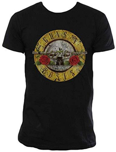 Bravado Guns N Roses Distressed Bullet Lightweight T-Shirt-Small