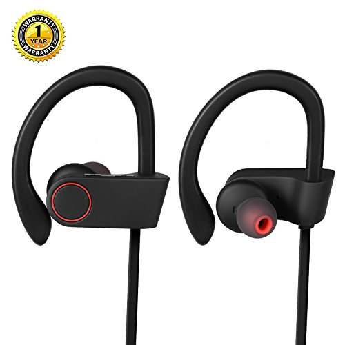 EverDigi Bluetooth Headphones, Wireless Stereo Sports Earbuds with Microphone In-Ear Noise Canceling Earbuds for iPhone and Android