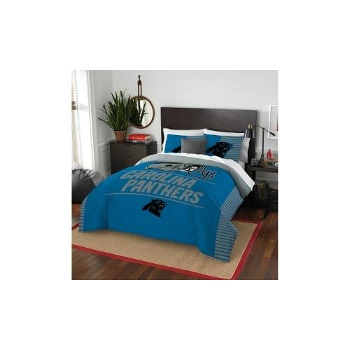 The Northwest Company NFL Carolina Panthers Draft Full/Queen Comforter and 2 Sham Set