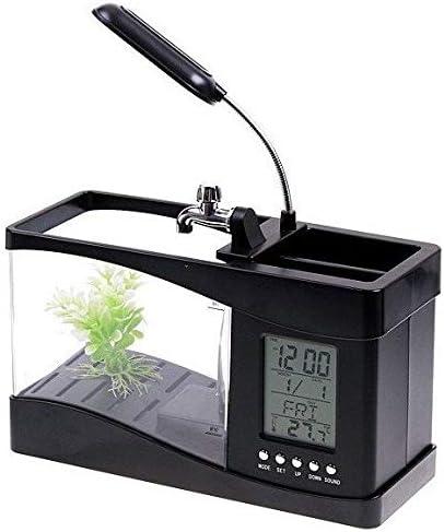 Mini Usb Lcd Desktop Lamp Light Fish Tank Aquarium Led Clock Black Lym H4874 Price In Uae Amazon Uae Kanbkam
