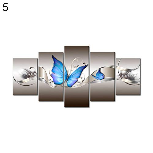 wintefei 5Pcs/Set Flower Butterfly DIY Partial Crystal Rhinestone Embroidery Pictures Arts Craft for Diamond Painting Needlework Kit Home Decor 5# ()