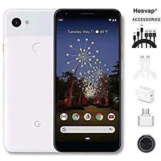 "Newest Google Pixel 3a 5.6"" 64GB Memory Cell Phone Unlocked Android Smartphone - Clearly White, AT&T/T-Mobile/Verizon W/Valued 69.99 Mobile Phone 7in1 Accessories"