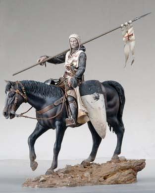 アンドレアミニチュア S8-F40 テンプル騎士団( 騎馬 )( 11世紀 )