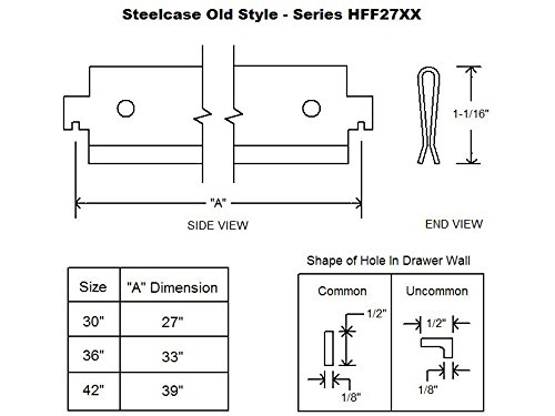 Steelcase''Old Style'' Lateral File Bar 30'' (4) by Northland Online (Image #1)