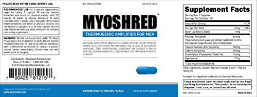 Myoshred (3 Pack)- Top Diet Pill and Thermogenic for Men - Diet and Muscles Supplement by Advantage Nutraceuticals (Image #6)
