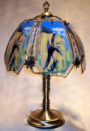 Elephant touch lamp lampshades amazon elephant touch lamp aloadofball Image collections