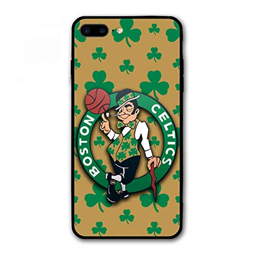 (Phone Case for iPhone 7 Plus iPhone 8 Plus, Ultra-Thin Printed Acrylic Rear Panel Shockproof, with Soft TPU Bumper Military Cover for iPhone 7 Plus / 8 Plus Only 5.5 inches (Celtics-Shamrock))
