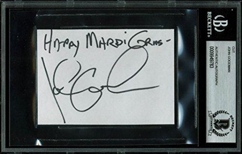 John Goodman The Big Lebowski Authentic Signed 2.75×4 Cut Signature BAS Slabbed