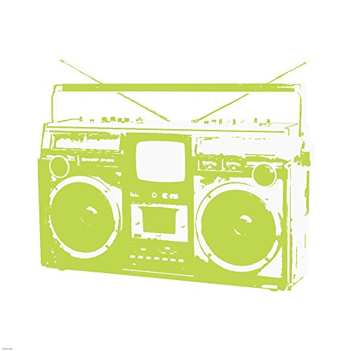 Lime Boom Box by Veruca Salt Art Print, 18 x 18 inches ()