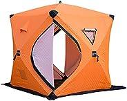 skrskr Portable Ice Fishing Shelter Easy Set-up Winter Fishing Tent Ice Fishing Tent Waterproof & Windp