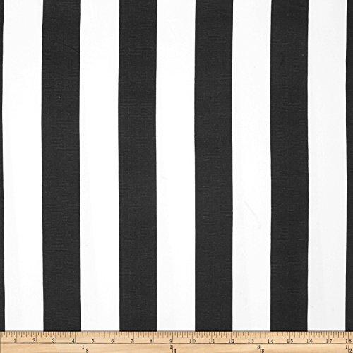Premier Prints Stripe Black/White Fabric by The Yard