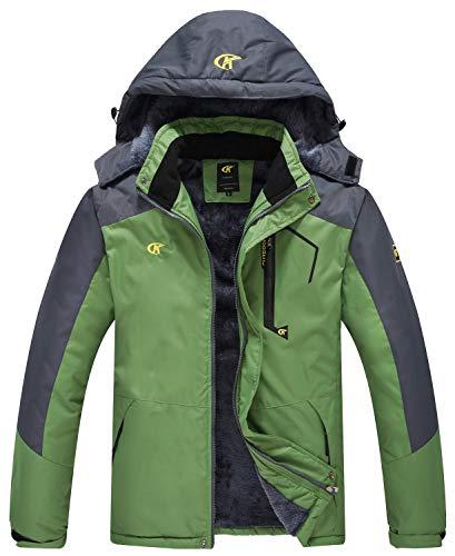 QPNGRP Mens Waterproof Ski Snowboarding Jacket Winter Windproof Fleece Snow Coat