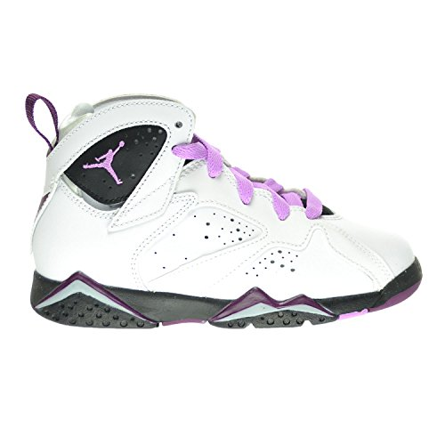 Jordan 7 Retro GP Little Kid's Shoes White/Fuchsia Glow/Black/Mulberry 442961-127 (11 M US) by Jordan