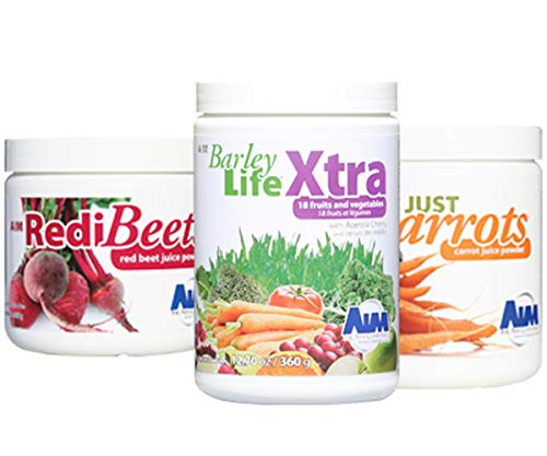 The AIM Companies Garden Trio: BarleyLife Xtra Just Carrots and ()