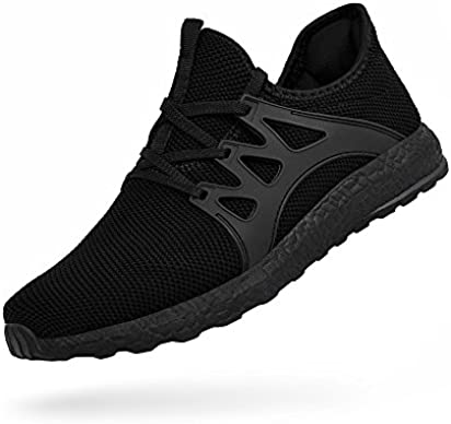 Troadlop Womens Fashion Sneakers Ultra Lightweight Knitted Running Shoes Athletic Casual Walking Black 9 US