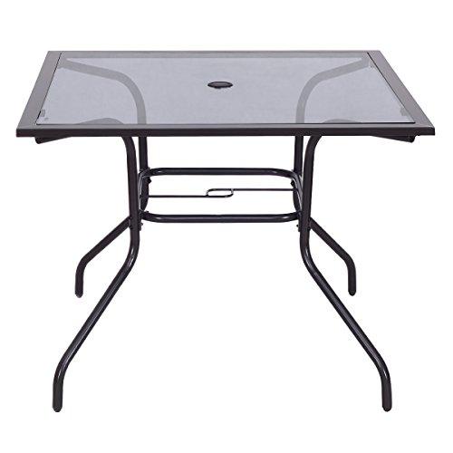 Cheap  Giantex 37 1/2 Square Dining Table Glass Top Deck Patio Yard Garden..