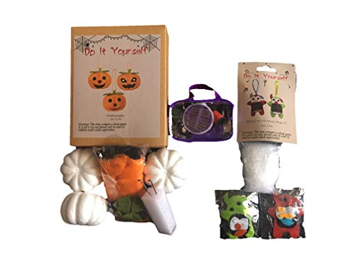 DIY Woolen Pumpkins and Felt Monsters - Halloween Decoration.
