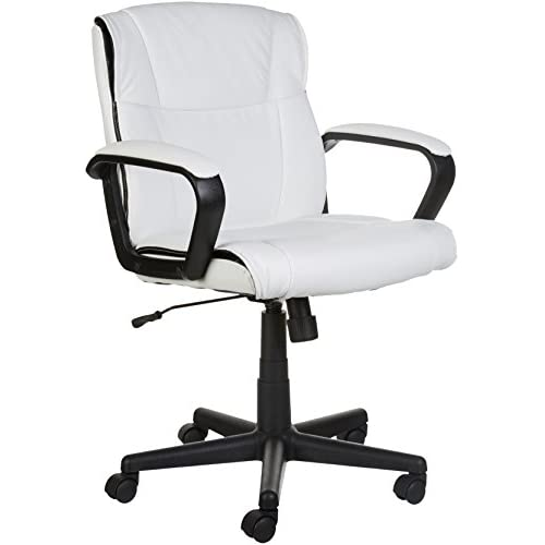 AmazonBasics Mid-Back Office Chair, White