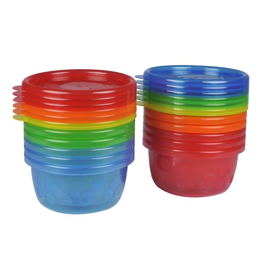 Take & Toss Toddler Bowls with Lids - 8 oz, 12 Pack